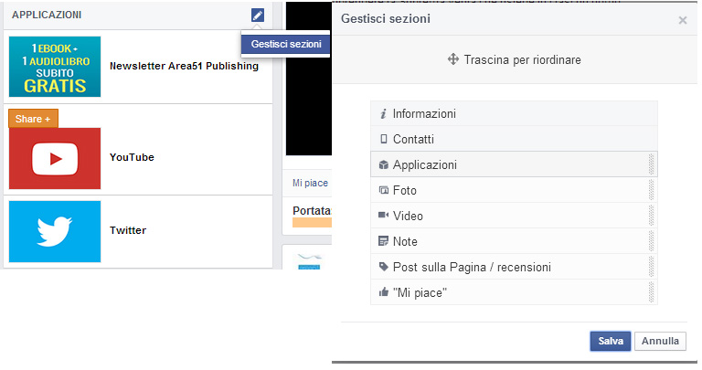 Facebook nuovo layout